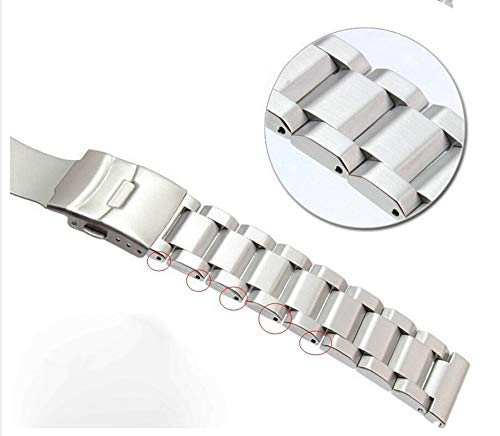 Jewh Silver Brushed Solid Stainless Steel - Deployment Clasp for Samsung Gear S3- Smart Watch