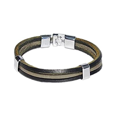 AUTHENTIC HANDMADE Leather Bracelet, Men Women Wristbands Braided Bangle Craft Multi [SKU001768]