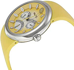 Fruitz Margarita Yellow Dial Yellow Silicone Strap Unisex Watch F43S-M-Y