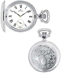 Festina Classic Reloj de bolsillo para hombres Plata genuina