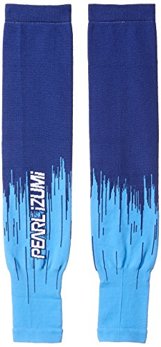 Pearl iZUMi Select Thermal Lite Arm Warmer, Bel Air Blue Streamline, Large