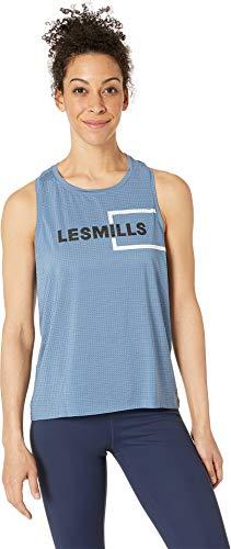 Reebok Women's Les Mills Perforated Tank Blue Slate Small ()