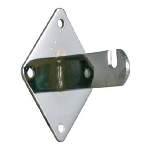 CHROME - LOT OF 50 - NEW - Wall Bracket for Gridwall - Use to Mount Wire Grid to Wall ()