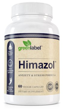 HIMAZOL Anxiety & Stress Relief Herbal Supplement, Promotes Clear & Calm Mind, Relaxation And Positiveness. With Ashwagandha, Hawthorn, 5 HTP, Biotin, Vitamin B. 60 Easy To Swallow Capsules.