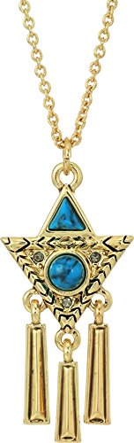 House of Harlow 1960 Women's Durango Triangle Necklace Gold/Turquoise One Size