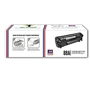 AB 88A Black Toner Cartridge CC388A Compatible for HP LaserJet - P1007, P1008, P1106, P1108, M202, M202n, M202dw, M126nw, M128fn, M128fw, M226dw, M226dn, M1136, M1213nf, M1216nfh, M1218nfs