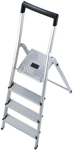 Hailo 5_8944-001 - Seguridad del hogar escalera Alu L40 4 pasos: Amazon.es: Bricolaje y herramientas