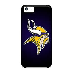 MansourMurray Iphone 5c Perfect Hard Cell-phone Cases Provide Private Custom Colorful Minnesota Vikings Series [XTi10828siAh]