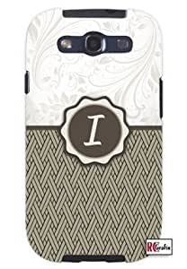 Monogram Initial Letter I Unique Quality Soft Rubber TPU Case for Samsung Galaxy S4 I9500 - White Case