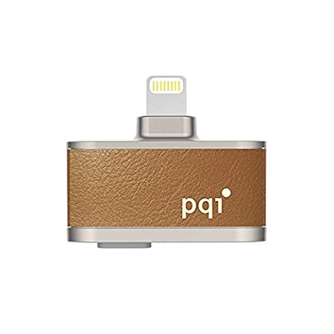 [Apple MFi Certified] Instant Video Recording Drive for iPhone iPad iPod, InstaShot Flash Drive External Storage Memory Expansion USB stick with Lightning Connector (Pqi I Cable)