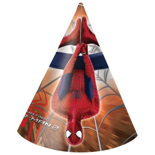 6 New Amazing Spiderman 2 Paper Party Hats