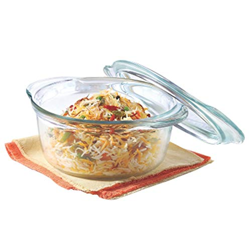 Borosil – IH22CA13701 Glass Casserole – Oven and Microwave Safe Serving Bowl with Glass Lid, 1.75L Price & Reviews