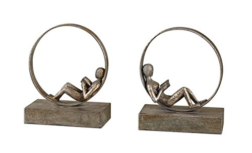 Uttermost Lounging Reader Bookends, Set of 2 by Uttermost