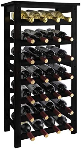 URFORESTIC 28-Bottle Wine Rack Made of Natural Bamboo Wood