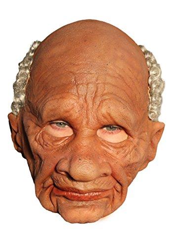 [Zagone Grandpappy Mask, Wrinkled Old Black Man] (Old Man Halloween Mask)