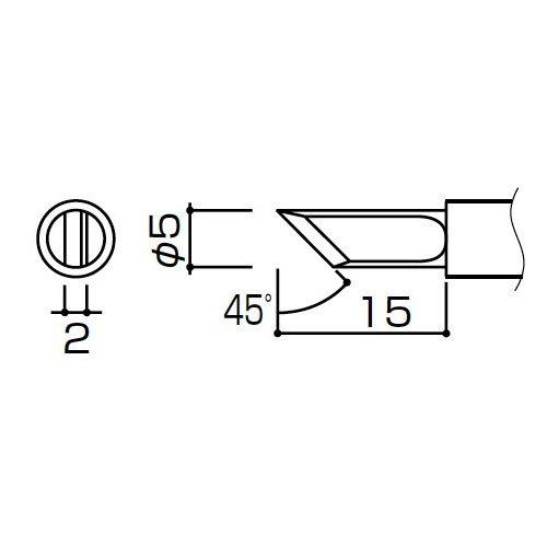 白光:953用こて先K型(10本) T4-K 000056087015  B01AXY5HGY