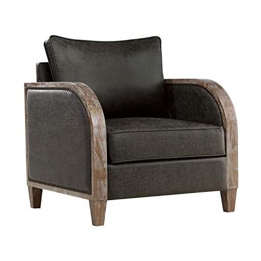 Farmhouse Accent Chairs Lexicon Spivey Accent Chair, Gray farmhouse accent chairs