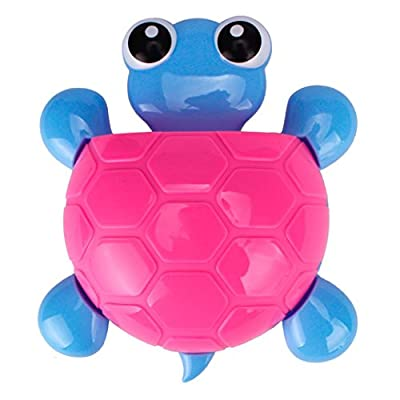 AMA (TM) Novelty Cute Tortoise Toothbrush Toothpaste Holder Storage Family Kitchen Bathroom Wall Hanger Sucker Cup Bathroom Set