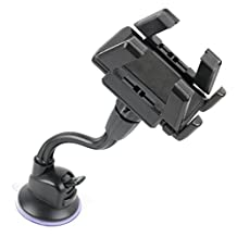 Car Window GPS Satnav Holder Mount Kit With Multi Angle Viewing - Compatible with the Garmin nuvi 67 LMT | nuvi 68 LMT | dezlCam LMT-D | nuviCam LMT-D | Camper 660 LMT-D Satnav - by DURAGADGET
