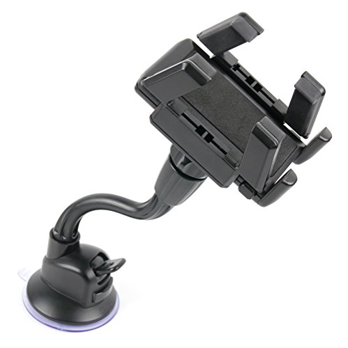 DURAGADGET In-Car Window & Dash Suction Phone Mount - Compatible with Sony Ericsson Xperia Arc S, X10 Mini, Pro, Xperia S & Sony Xperia M UK SmartPhone, With Flexible Arm
