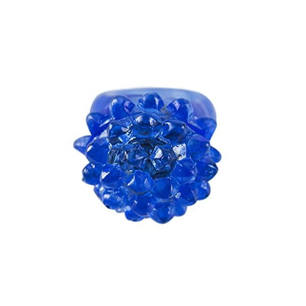 Raves Concert Shows The Dreidel Company Flashing Colorful LED Light Up Bumpy Jelly Rubber Rings Finger Toys for Parties Event Favors 6-Pack