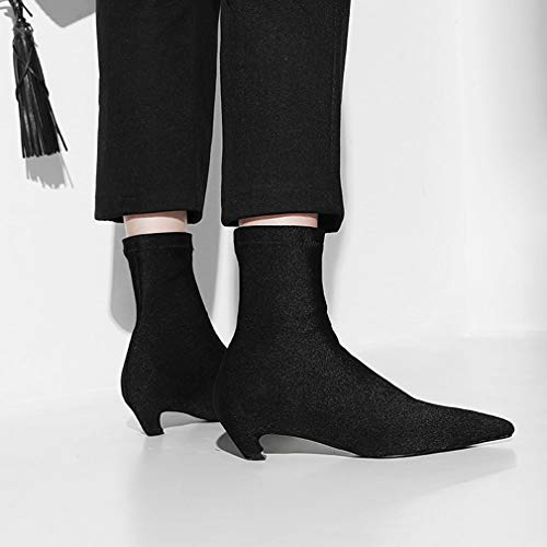 para Botas Botas Dama Mujer Hy y elásticas de de Botas Botas Negro Aguja tacón 164e43