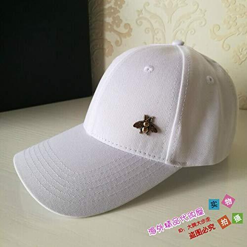 Owaxhwd Visera Mujer ajustable Negro E negro Bee White Gorra Negra Béisbol Para Sombrero De Marca En Hombre Sombreros Otoño Invierno Masculina rwqExOCr