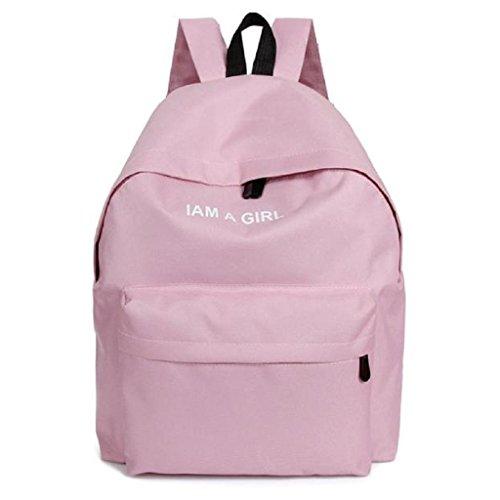 Para RETUROM mujer viajes la para escolares lona mochila de Bolso Rosa Bolsos bandolera de muchacha ZqTwd4Zx