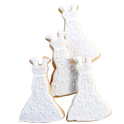 ½ Dz. Wedding Dress Cookies Bridal showers, gifts, favors and more