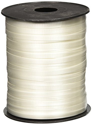 Rhode Island Novelty White Curling Ribbon 500 yds ()