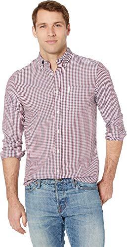 - Ben Sherman Men's LS Classic Gingham Shirt, Sky XXL