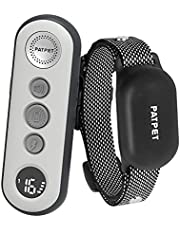 PATPET 2 in 1 Dog Training Collar with 3 Safe Training Modes, Rechargeable IPX7 Waterproof Shock Collar with Remote, 3000 Ft Control Perfect for Small Dogs(5-100lbs) - Electric Dog Barking Collar