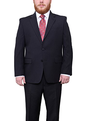 ack Pinstriped Two Button Blazer Sportcoat (Portly 2 Button Jacket)