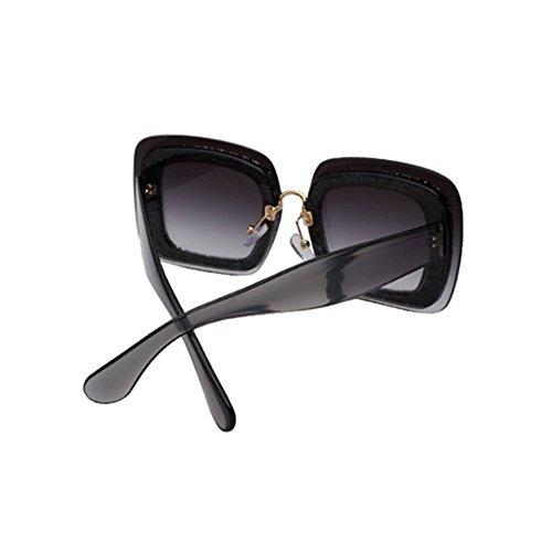 LIZHIQIANG Negro Color La De De Gafas Señoras Grande Gafas Personalidad Rojo Del De Gafas De Sol Marea Grandes La Las Cara Las Redondas De Marco Sol De rFrqfx