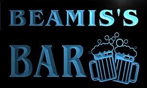 w119687-b BEAMIS Name Home Bar Pub Beer Mugs Cheers Neon Light Sign