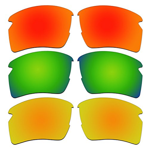 3 Pair Replacement Polarized Lenses for Oakley Flak 2.0 XL Sunglasses Pack - Jacket Flak Xl