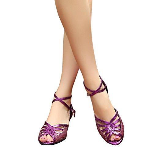 Cxs Ladies Open Toe Party Tacchi Da Sposa Scarpe Da Ballo Per Salsa Tango E Pratica, 2.0 Tacco