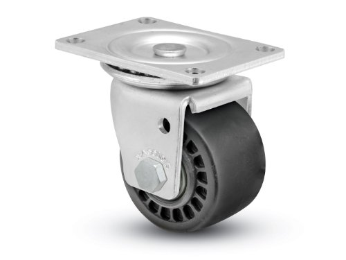 Shepherd-BLS-Series-3-Diameter-Glass-Filled-Nylon-Wheel-Swivel-Caster-4-18-Length-x-3-18-Width-Plate-700-lbs-Capacity-Trivalent-Zinc-Finish