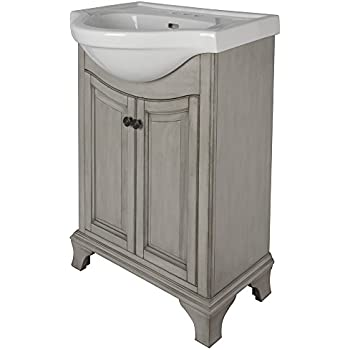 Foremost paea2534 palermo euro bath vanity with china top bathroom vanities for Foremost corsicana 24 in bathroom wall cabinet