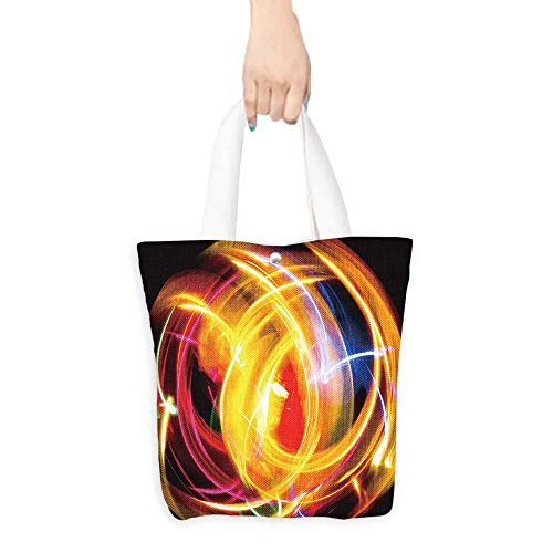 Canvas Tote Bag Fractal Artwork Vivid Wallpaper Perfect for Shopping, Laptop W11 x H11 x D3 INCH