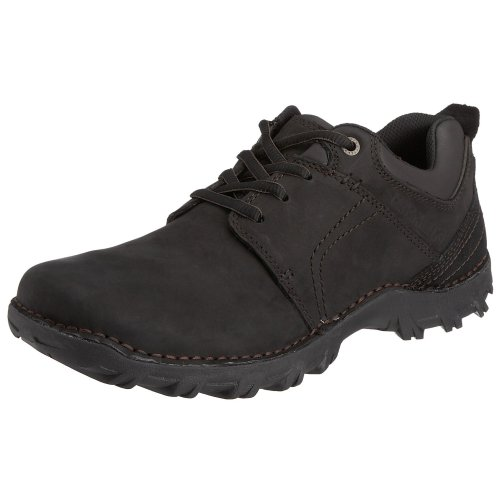 Caterpillar mens Caterpillar Mens Emerge Leather Non Safety Shoes Black Black Leather UK Size 12 (EU 46, US 13)
