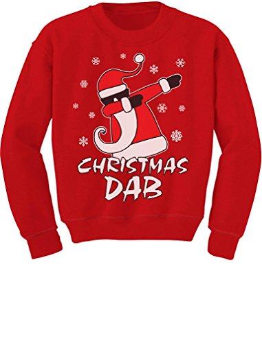 Dabbing Santa Christmas Dab Funny Ugly Xmas Toddler/Kids Sweatshirt 5/6 Red