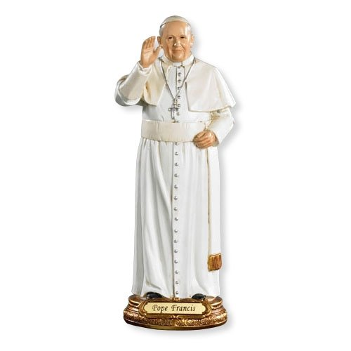 8 Inch Resin Pope Francis Statue This Statue Is the Perfect Size for Any Home, Office or Small Chapel. Chapel Statue