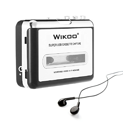 Wikoo Tape to MP3 CD converter, Convert Cassette to MP3 via USB, Portable USB Cassette Tape Player Walkman, Captures MP3 Audio Music - Convert Cassette Tapes To Cd