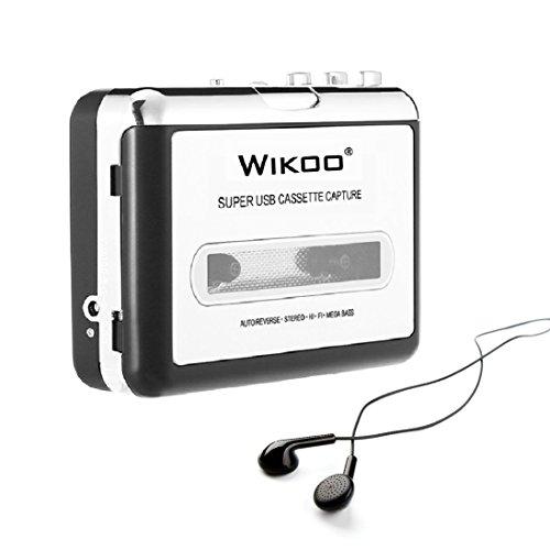 Wikoo Tape to MP3 CD converter, Convert Cassette to MP3 via USB, Portable USB Cassette Tape Player Walkman, Captures MP3 Audio Music