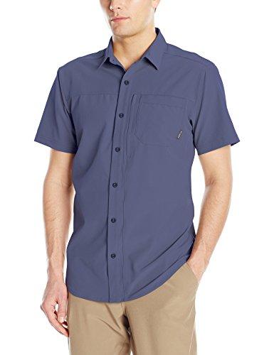 Columbia Mens Global Adventure IV Solid Short Sleeve Shirt