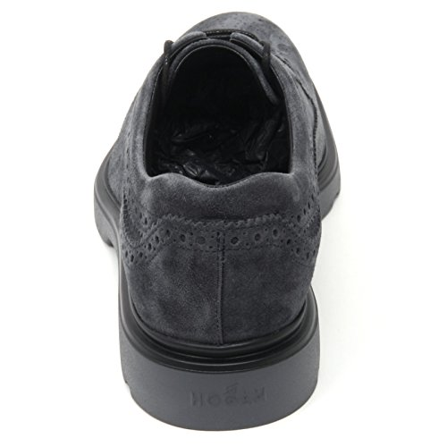 Hogan B7104 Scarpa Inglese Uomo H304 Scarpa Blu Shoe Man blu denim/grigio