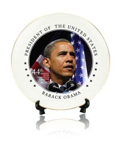 - Barack Obama 8-inch Ceramic Presidential Decorative Plate w/ Gift Box Obama for America