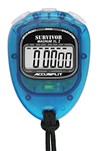 ACCUSPLIT New Survivor SX 2 Series Stopwatch S2CH-P, Unisex-Adult, New Survivor SX 2 Series Stopwatch, S2AQ, Aqua