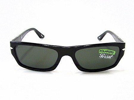 bd1d92e531212 Persol 2867-S 2867S Black 95 58 Polarized Sunglasses 55X17  Amazon.co.uk   Clothing